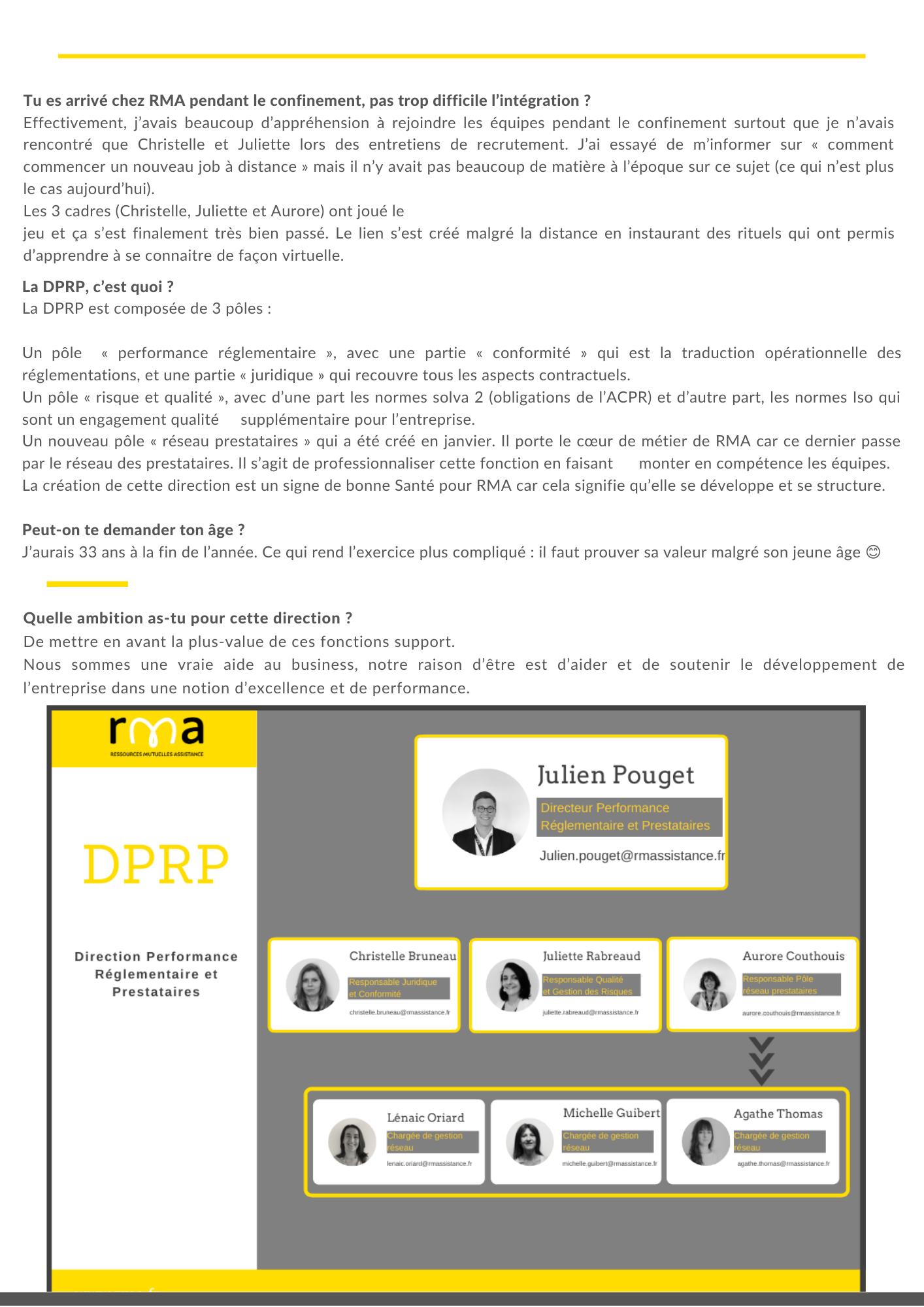 DPRP - découverte métier 2/2